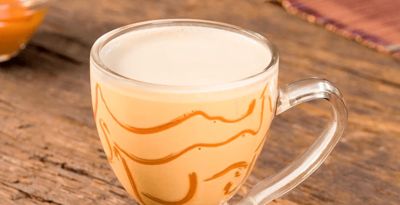 Café cremoso con ron