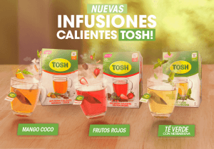 Nuevas infuiones de Tosh en 3 sabores distintos